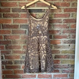 Free people small dress with xs/s slip